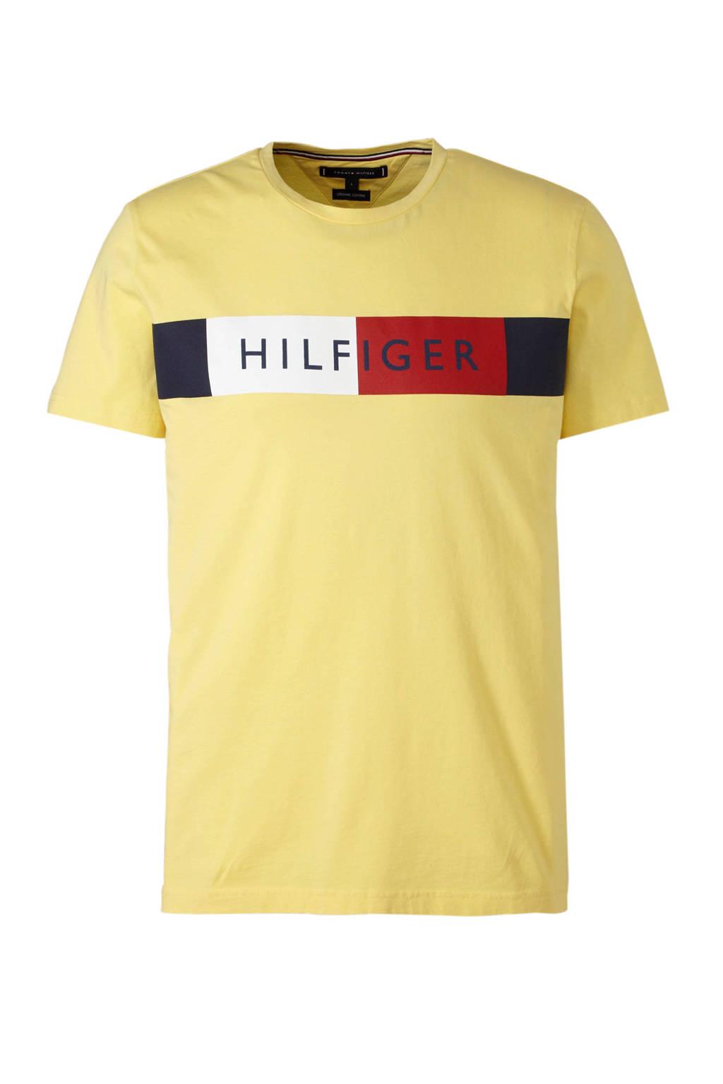 Tommy Hilfiger T-shirt met logo geel, Geel