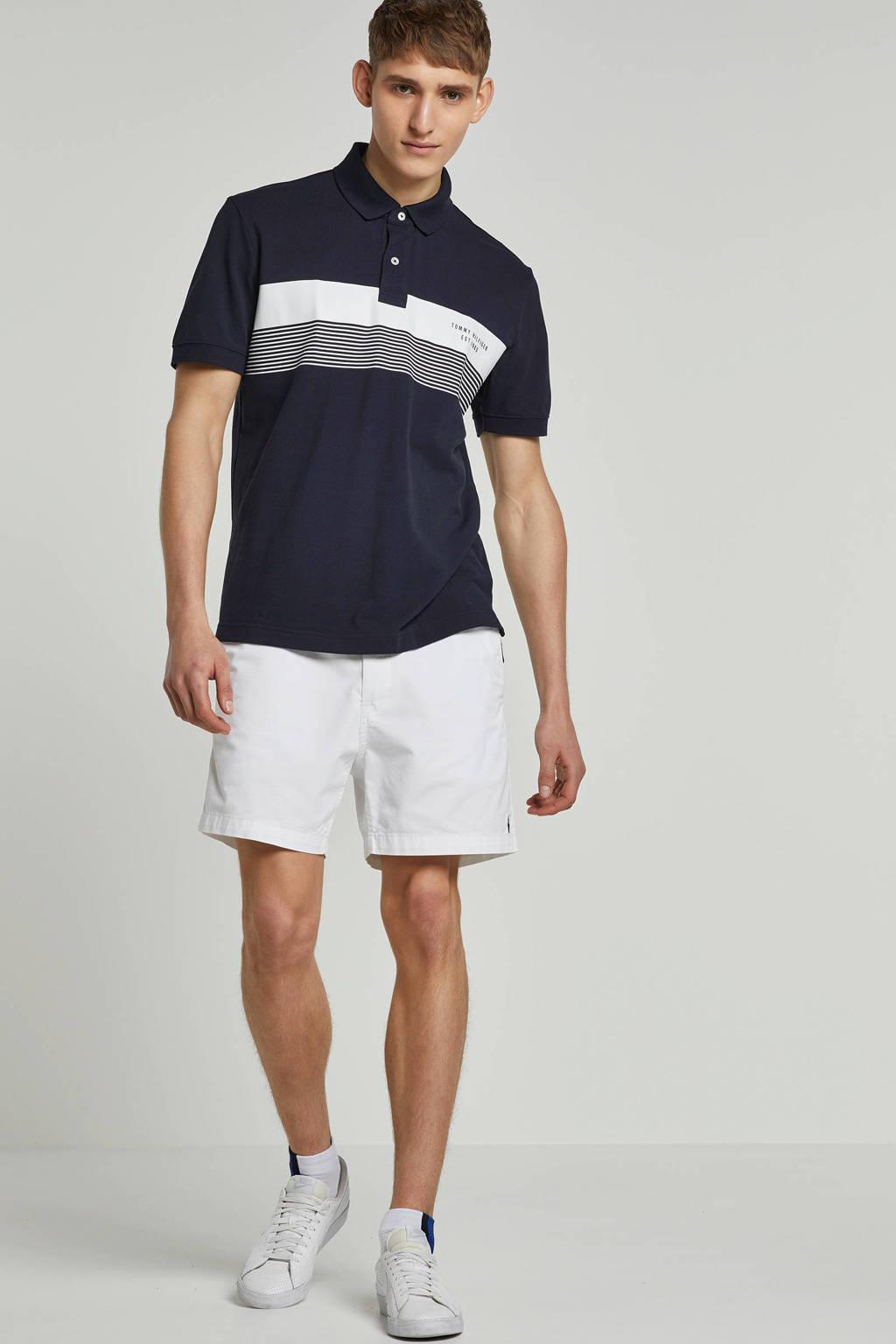 Tommy Hilfiger regular fit polo, Marine/wit