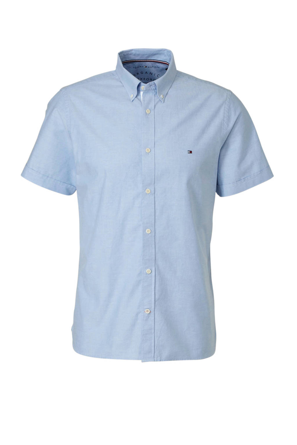 Tommy Hilfiger slim fit overhemd blauw, Blauw