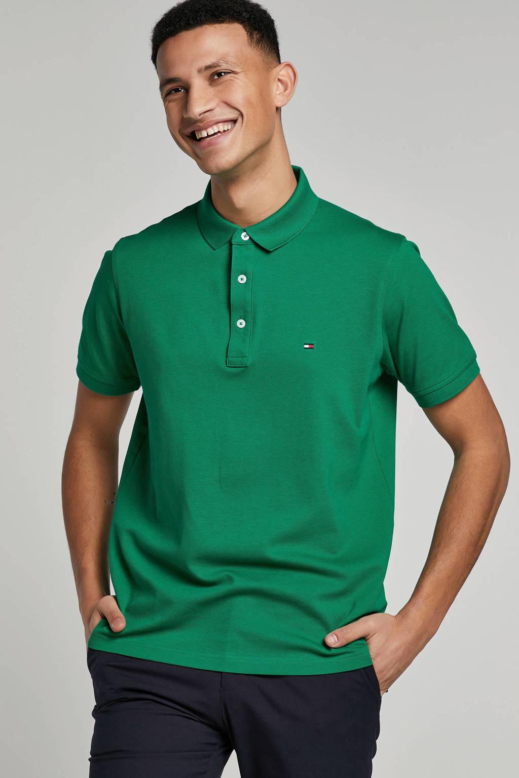 Tommy Hilfiger slim fit polo groen, Groen