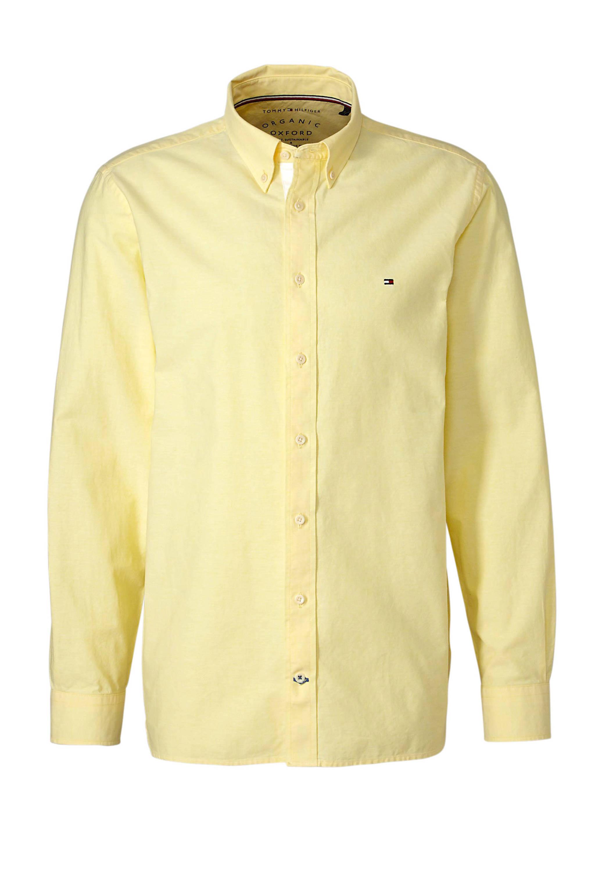 Geel Overhemd.Tommy Hilfiger Regular Fit Overhemd Geel Wehkamp