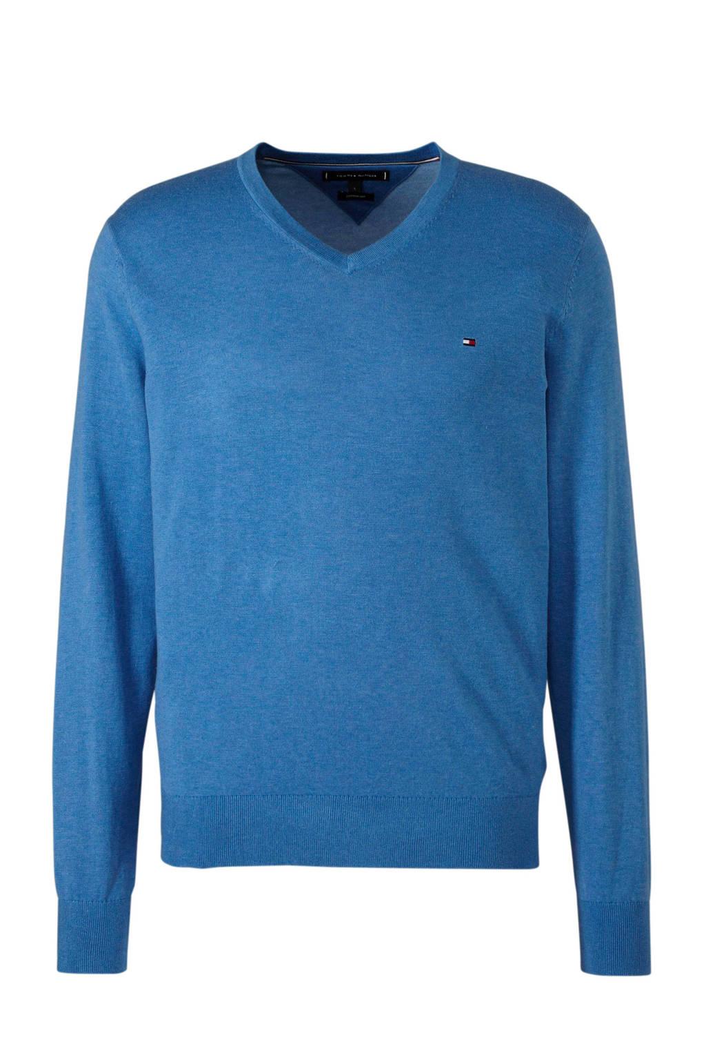 Tommy Hilfiger gemêleerde trui blauw, Blauw