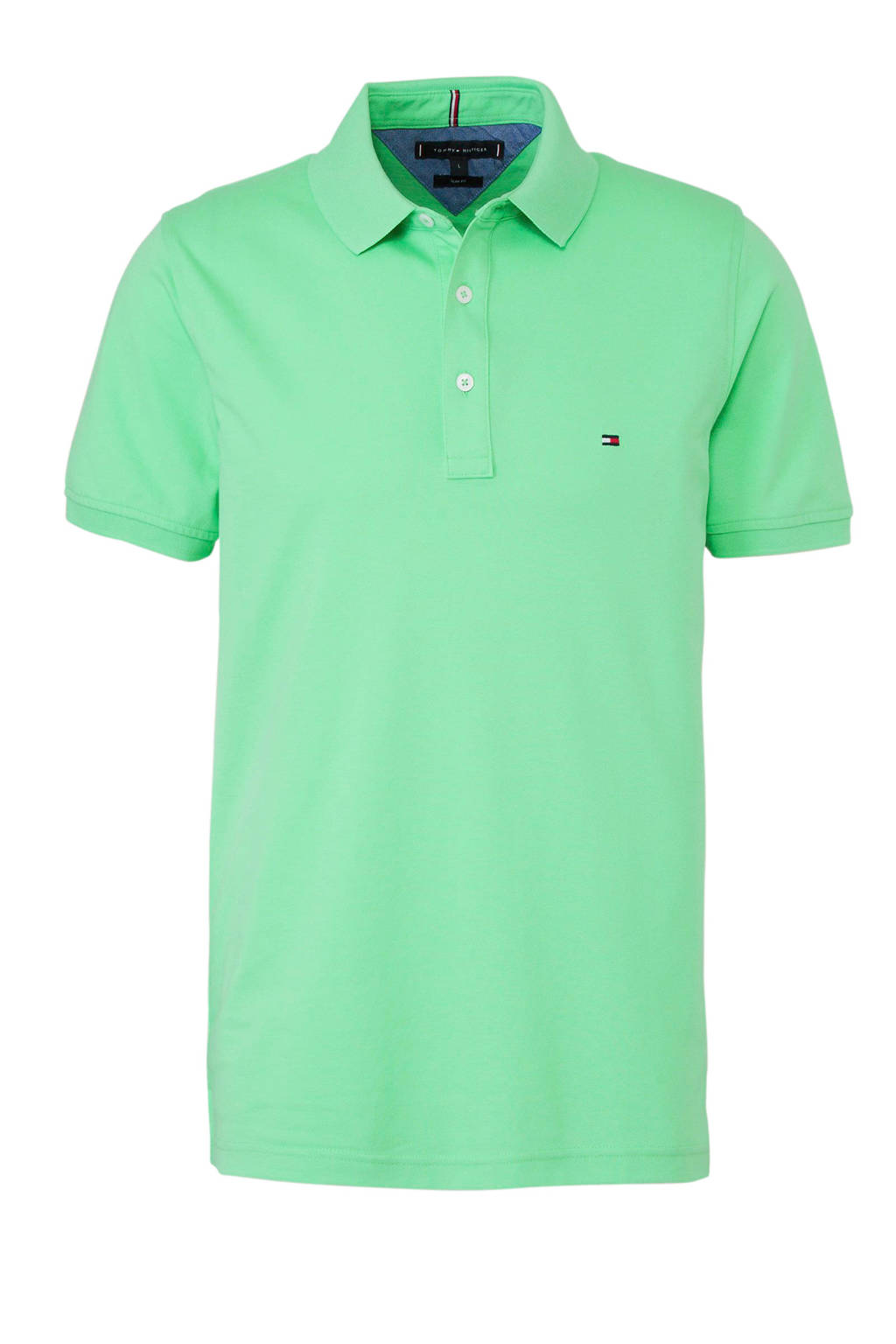 Tommy Hilfiger slim fit polo groen, Groen