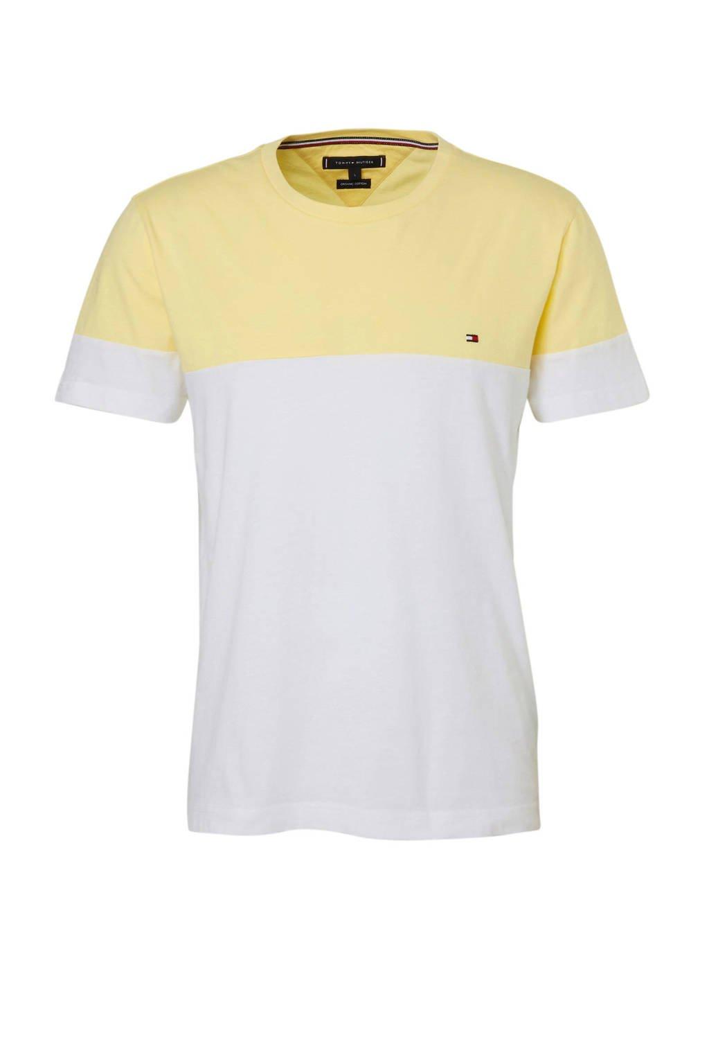 Tommy Hilfiger T-shirt, Wit/geel