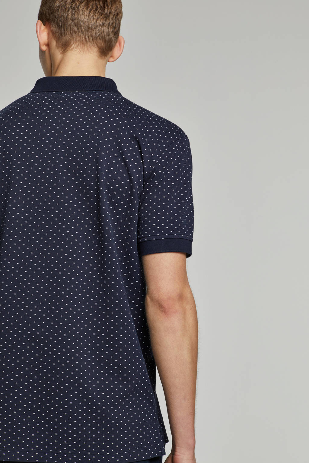 Tommy Hilfiger regular fit polo met print wit, Donkerblauw
