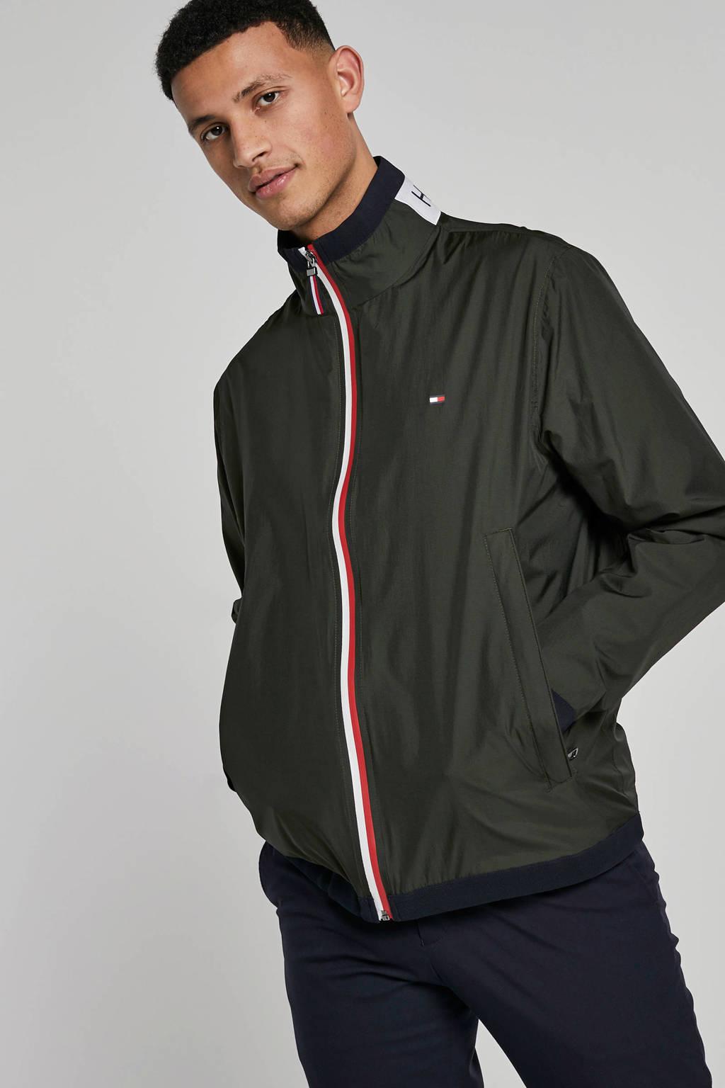 Tommy Hilfiger jas met borduursels, Groen/Rood/Wit