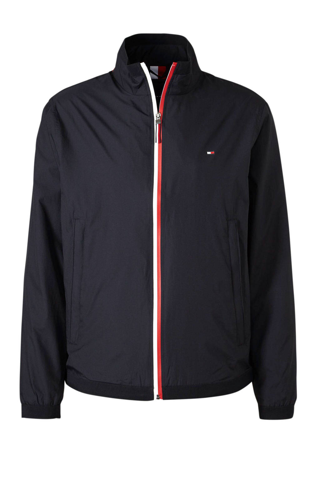Tommy Hilfiger jas met borduursels, Donkerblauw/rood/wit