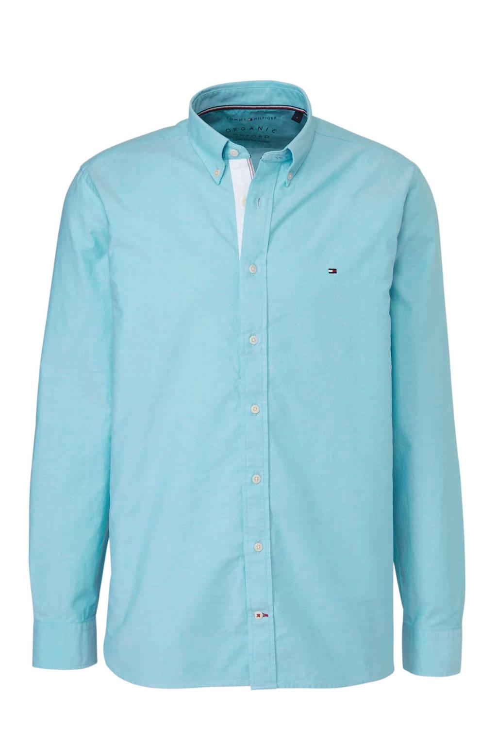 Tommy Hilfiger regular fit overhemd blauw, Blauw
