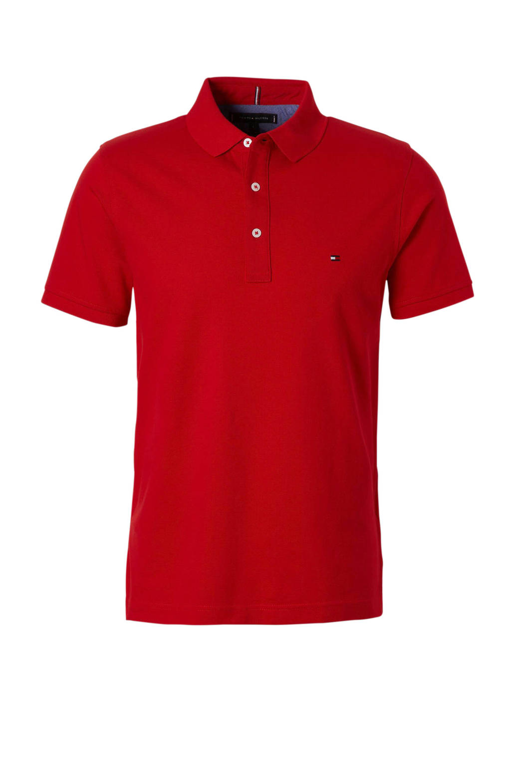 Tommy Hilfiger slim fit polo rood, Rood