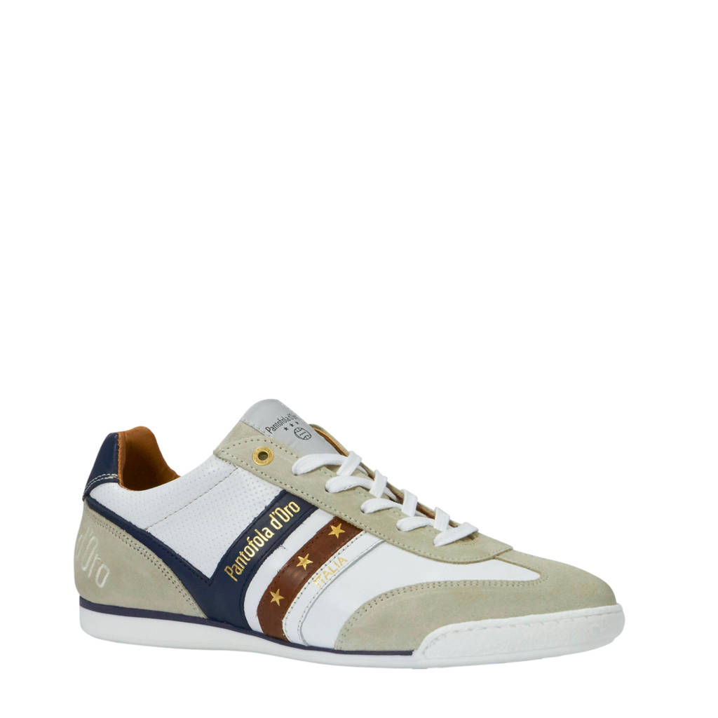 Pantofola d'Oro  Vasto sneakers wit, Wit/blauw/bruin
