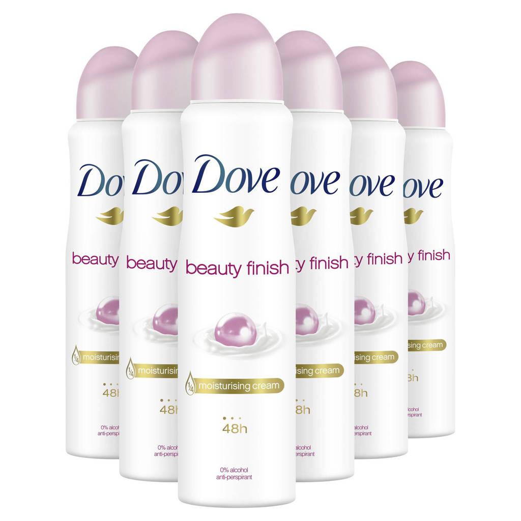 Dove Beauty Finish Women deodorant spray - 6x150 ml
