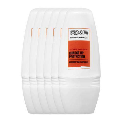 Axe Adrenaline for Men deodorant roller - 6x50 ml