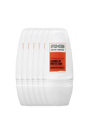 Adrenaline for Men deodorant roller - 6x50 ml - anti-transpirant