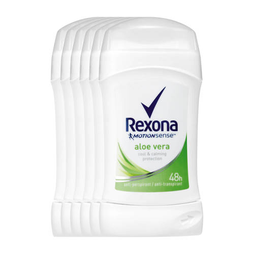 Rexona Women Fresh Aloe Vera deodorant stick - 6x40 ml kopen
