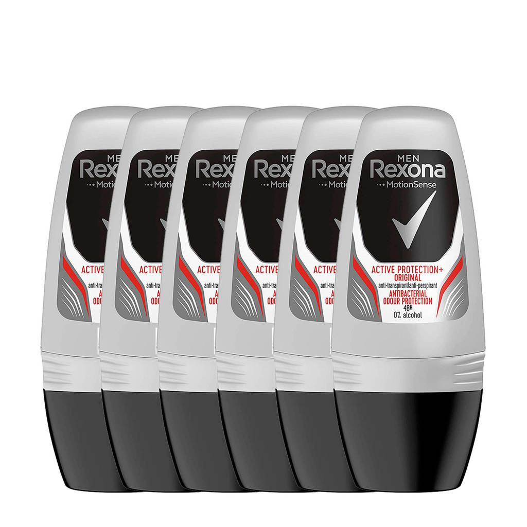 Rexona Men Active Shield deodorant roller - 6x50 ml