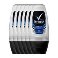 Rexona Men Cobalt Dry deodorant roller - 6x50 ml