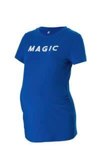 wehkamp zwangerschaps T-shirt met tekst blauw