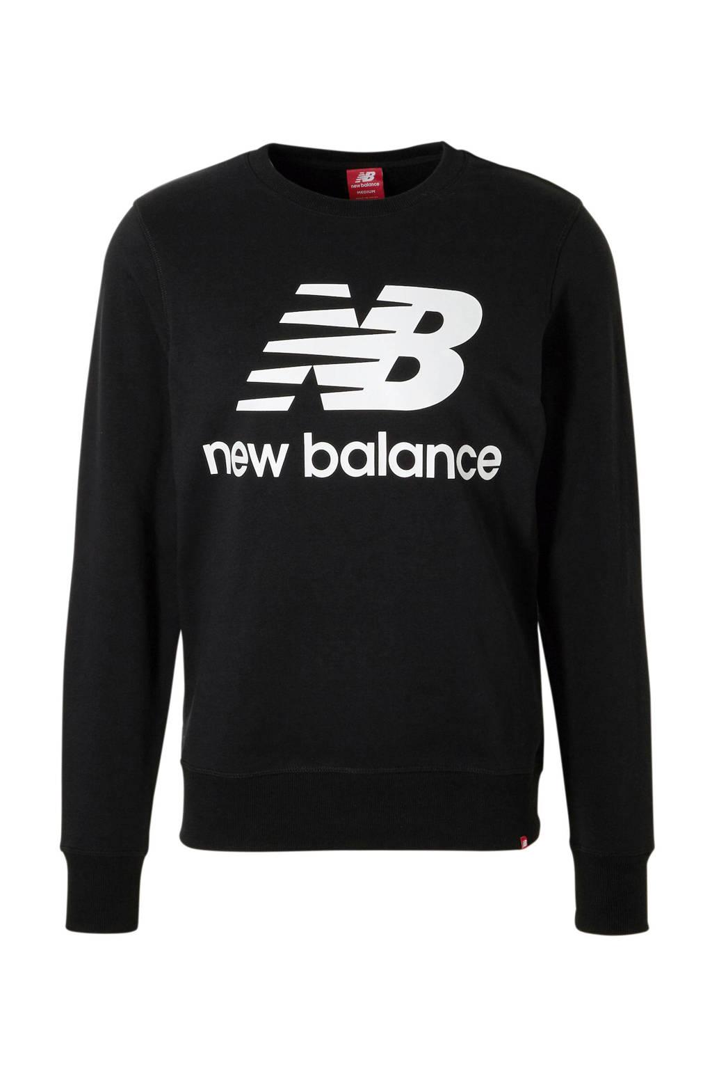 New Balance   sweater zwart, Zwart/wit