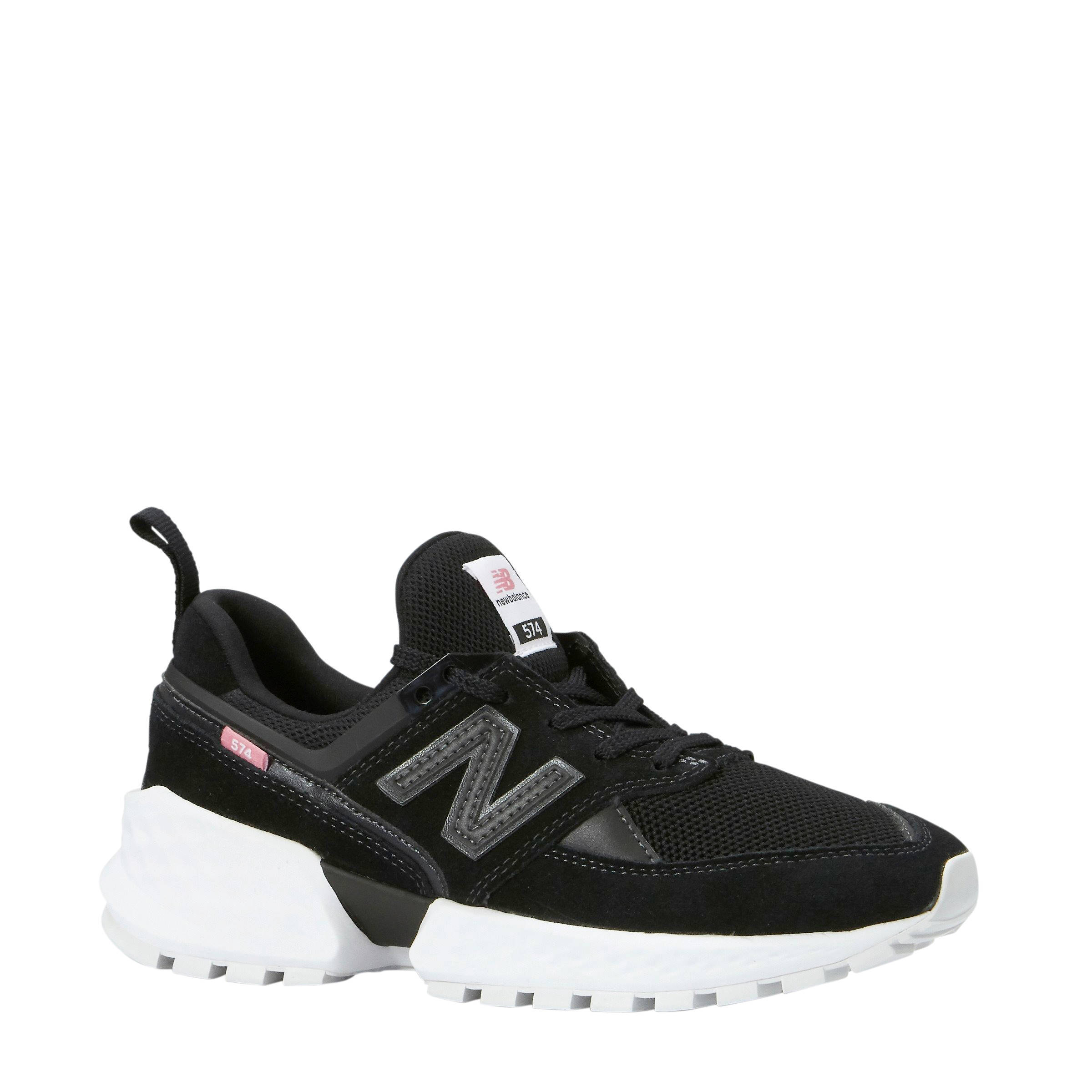 new balance ws574 black dames sneakers zwart