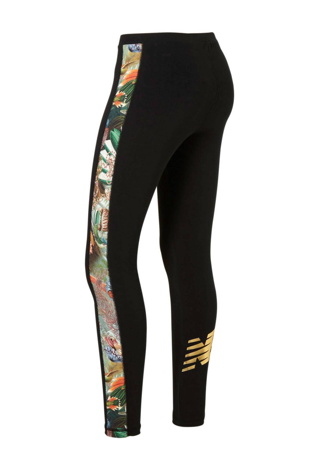 New Balance 7/8 legging, Zwart/bloemen