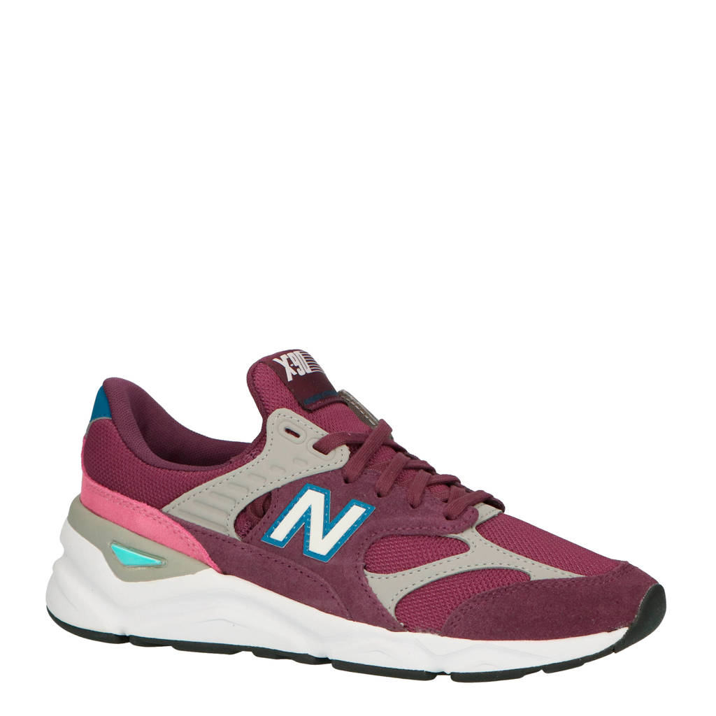 New Balance X-90 sneakers aubergine/roze, Aubergine/roze