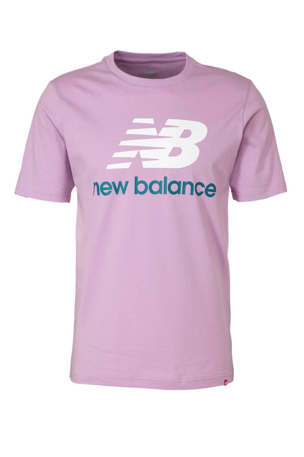 New Balance   T-shirt lila, Lila/wit/donkerblauw