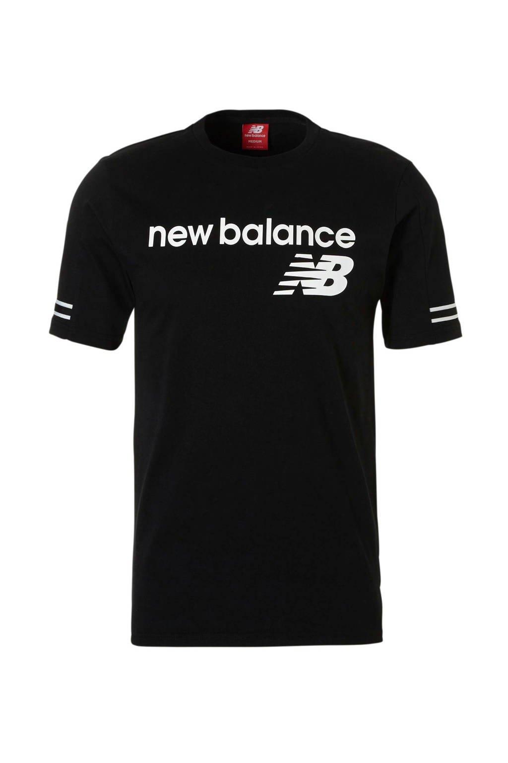 New Balance   sport T-shirt zwart, Zwart