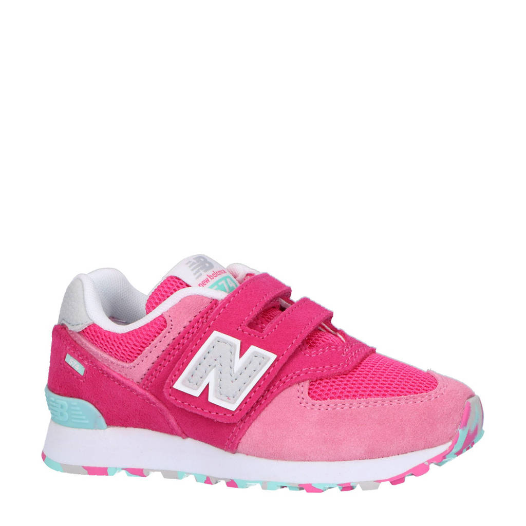 dab38875c1e595 New Balance 574 sneakers roze | wehkamp