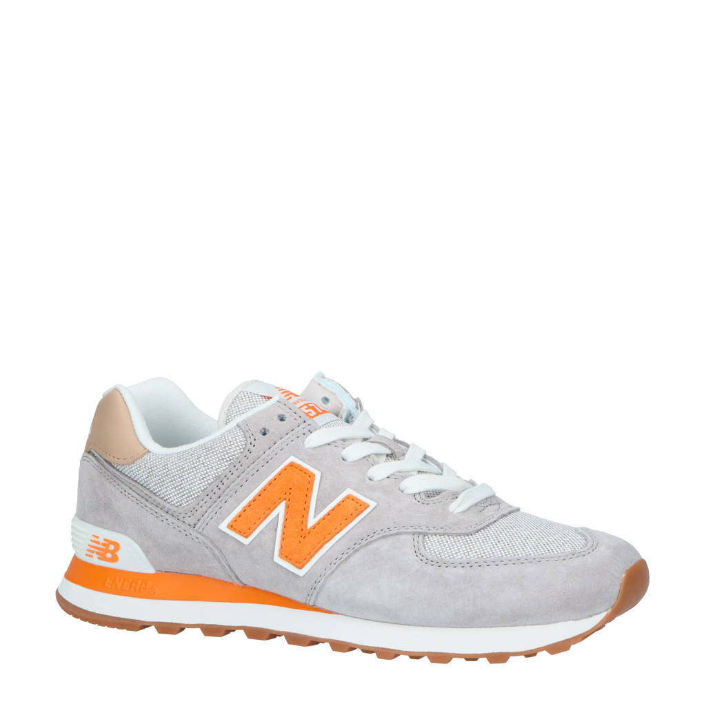 New Balance  ML574 sneakers lichtgrijs, Lichtgrijs/oranje