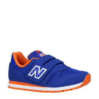 373 sneakers kobaltblauw/oranje