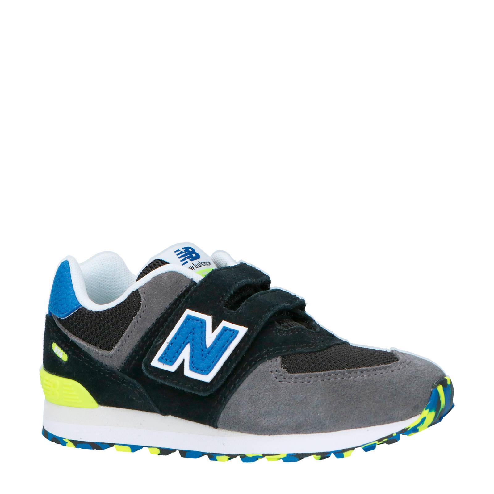 New Balance 574 sneakers zwartgrijsgeel | wehkamp