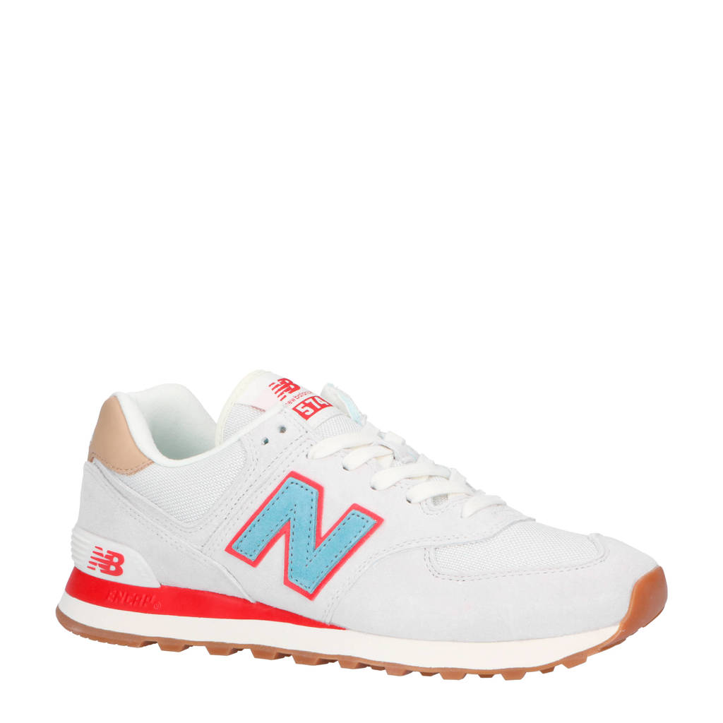 New Balance  ML574 sneakers wit/rood/blauw, Wit/rood/blauw