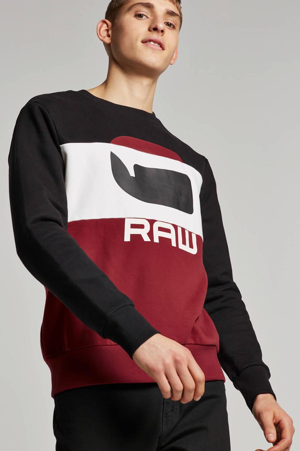 G-Star RAW sweater, Zwart/rood