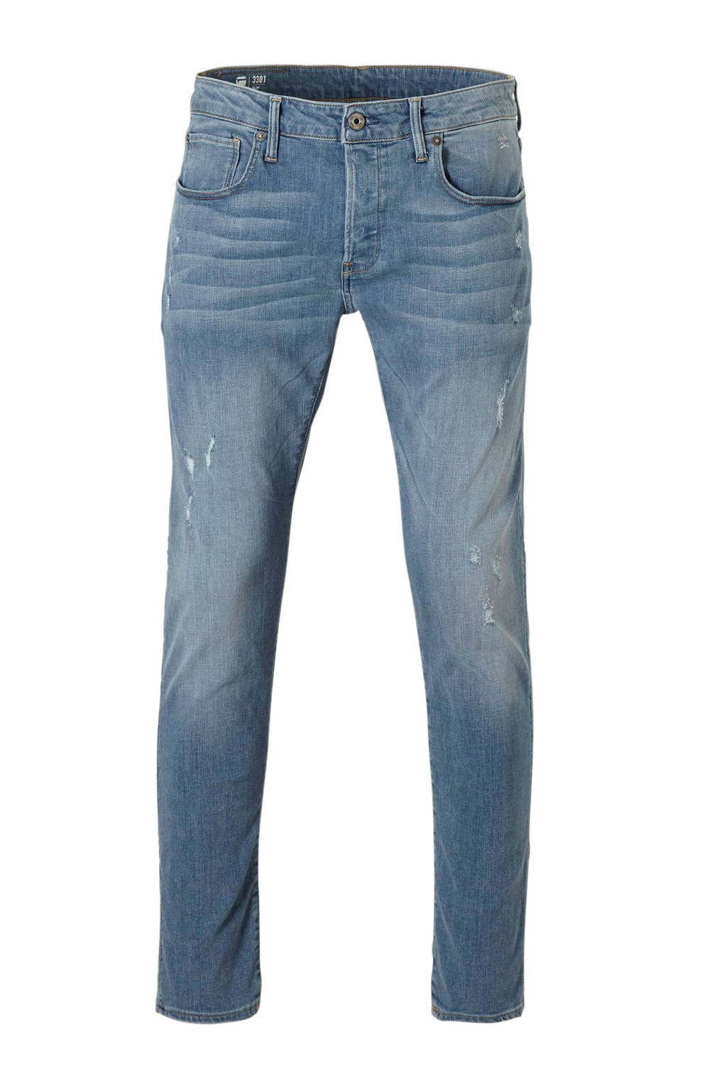 G-Star RAW 3301 straight fit jeans, Light denim