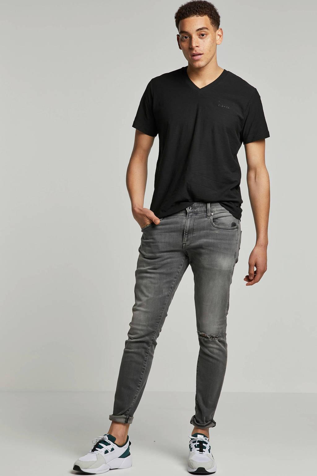 G-Star RAW skinny fit jeans Revend medium aged ripped, Grijs
