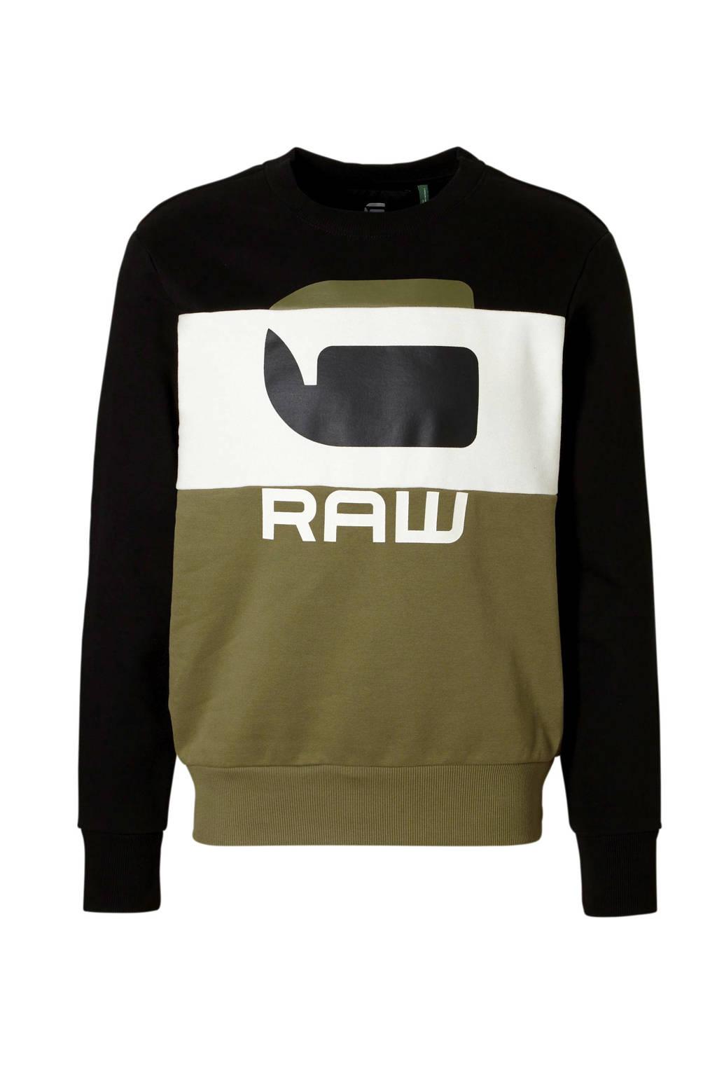 G-Star RAW sweater, Zwart/groen