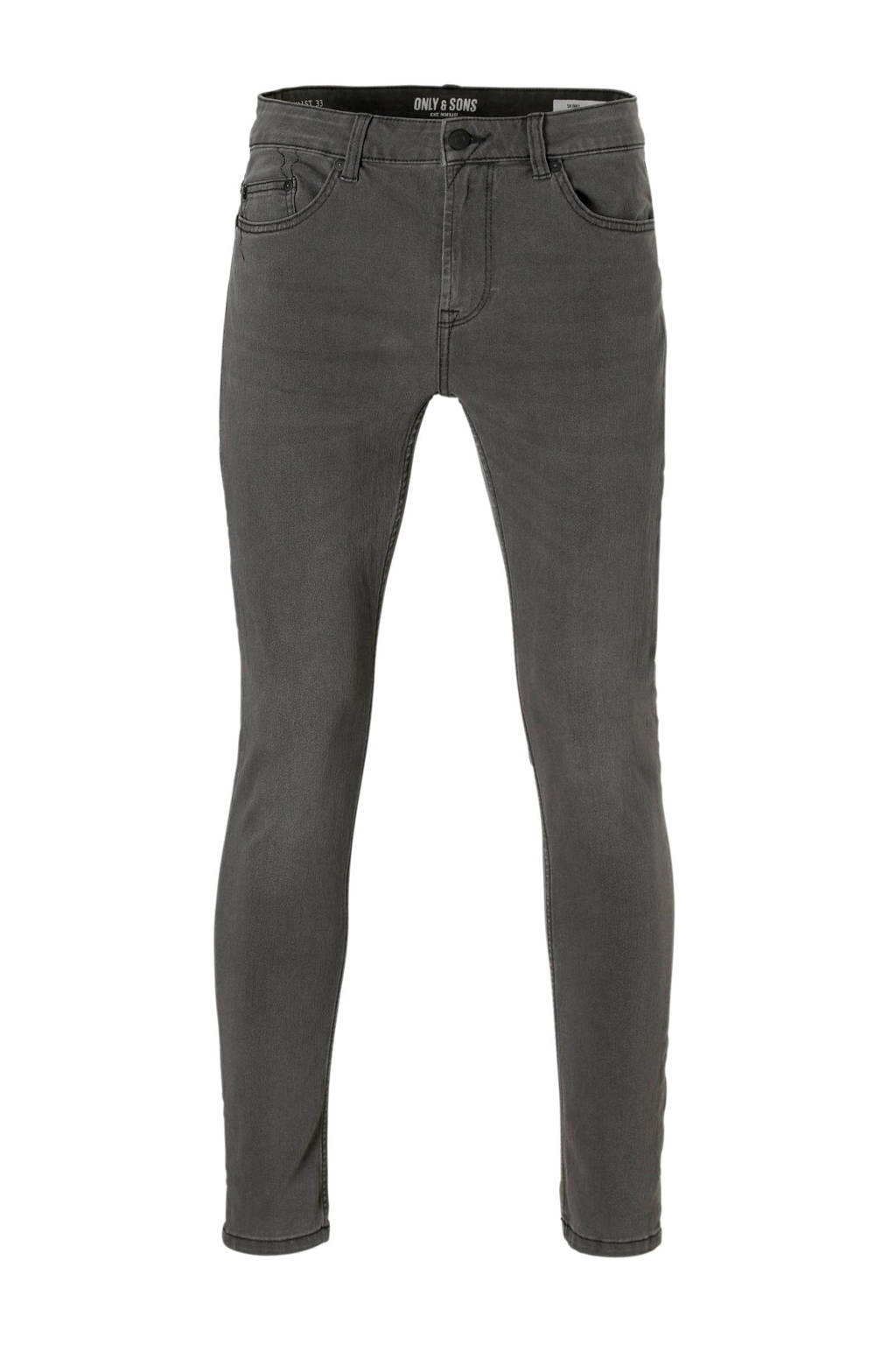 Only & Sons skinny fit jeans, Grijs