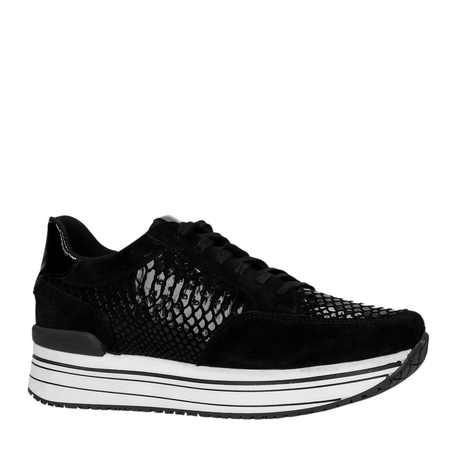 2045e1a2877 PS Poelman suède sneakers zwart | wehkamp