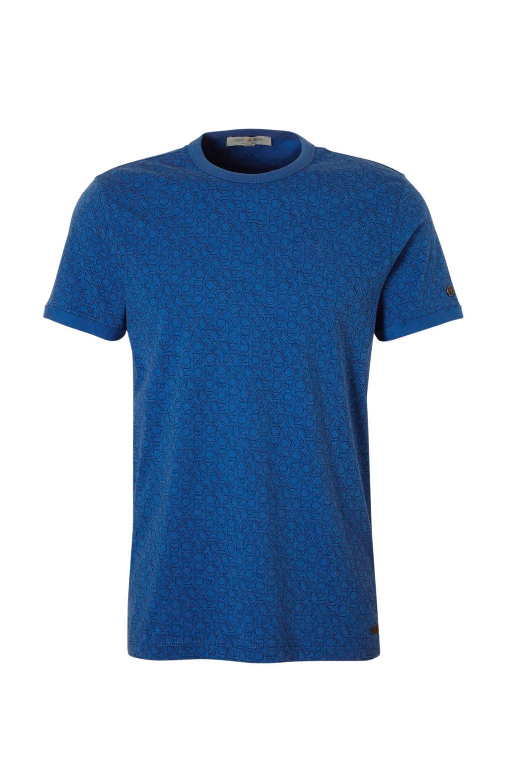 Cast Iron Logo AOP T-shirt blauw, blauw/ zwart