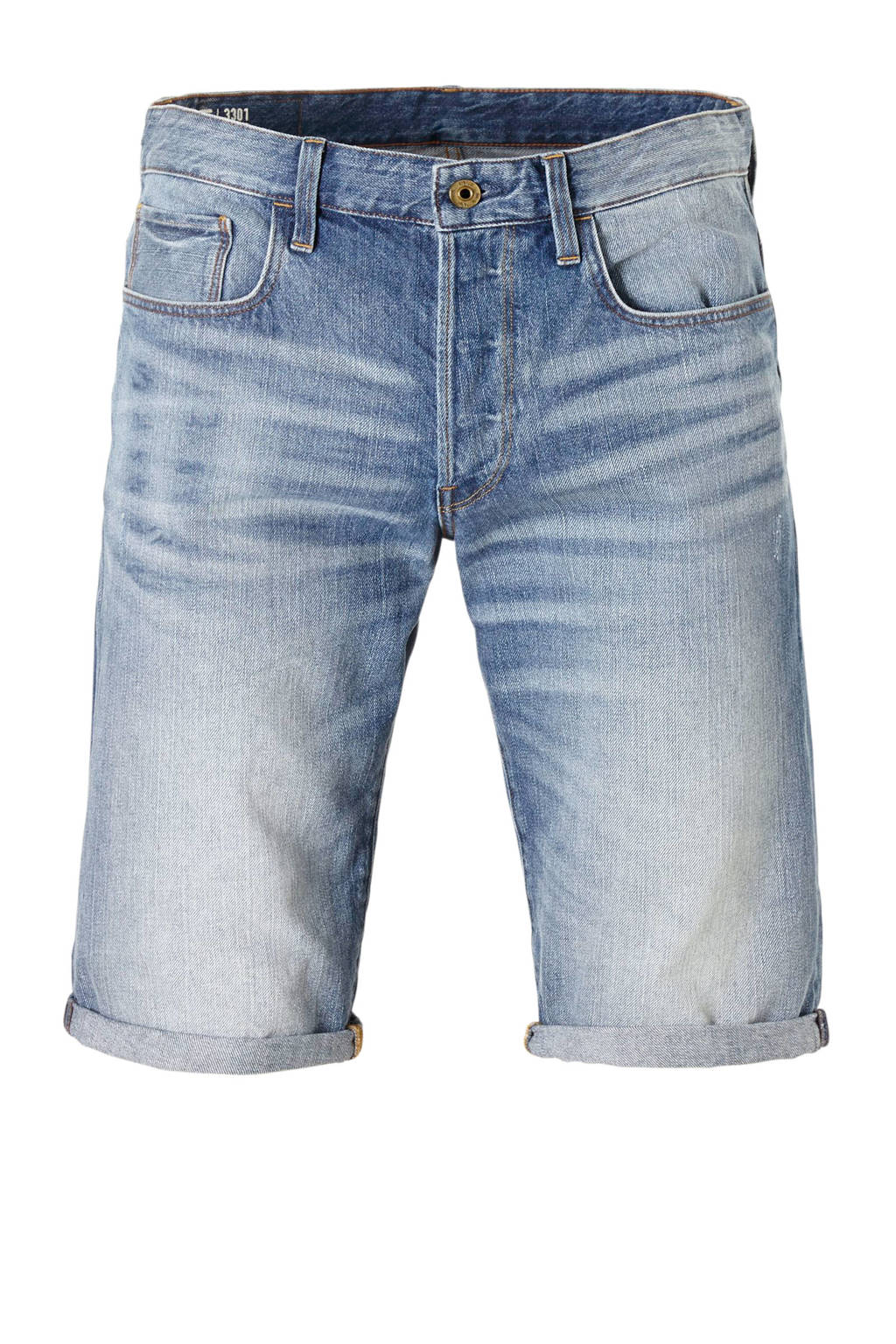 G-Star RAW 3301 regular fit jeans short, Dark denim