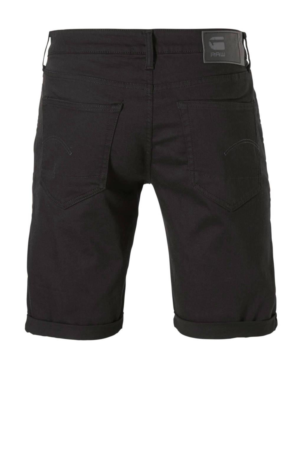 G-Star RAW 3301 slim fit bermuda zwart, Zwart