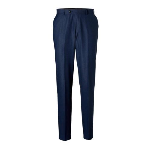 C&A Angelo Litrico slim fit pantalon met print donkerblauw