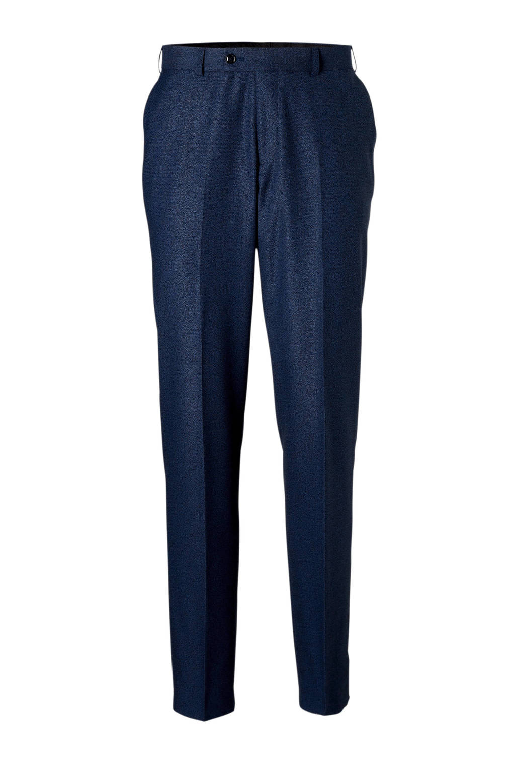 C&A Angelo Litrico slim fit pantalon met print donkerblauw, Donkerblauw/zwart