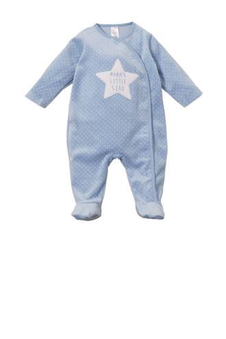 Baby Club   velours pyjama met sterren blauw