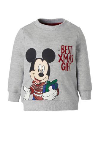 Baby Club Mickey Mouse kersttrui grijs