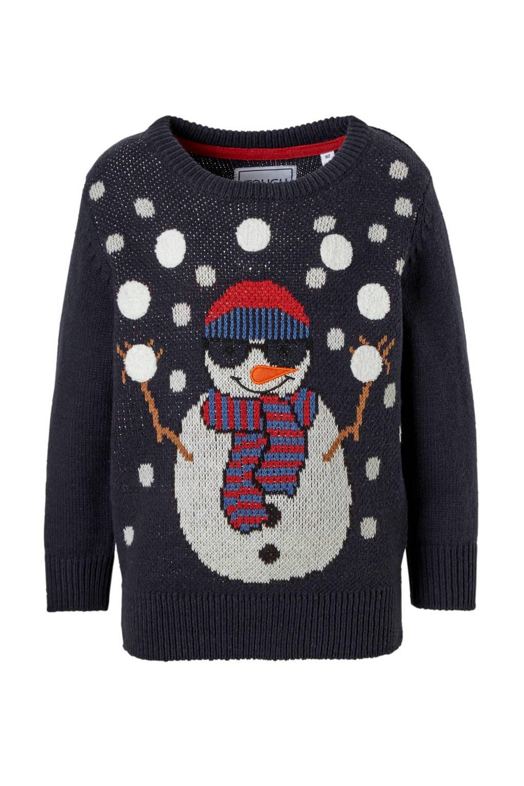 Kersttrui V En D.C A Palomino Kersttrui Met Sneeuwpop Blauw Wehkamp