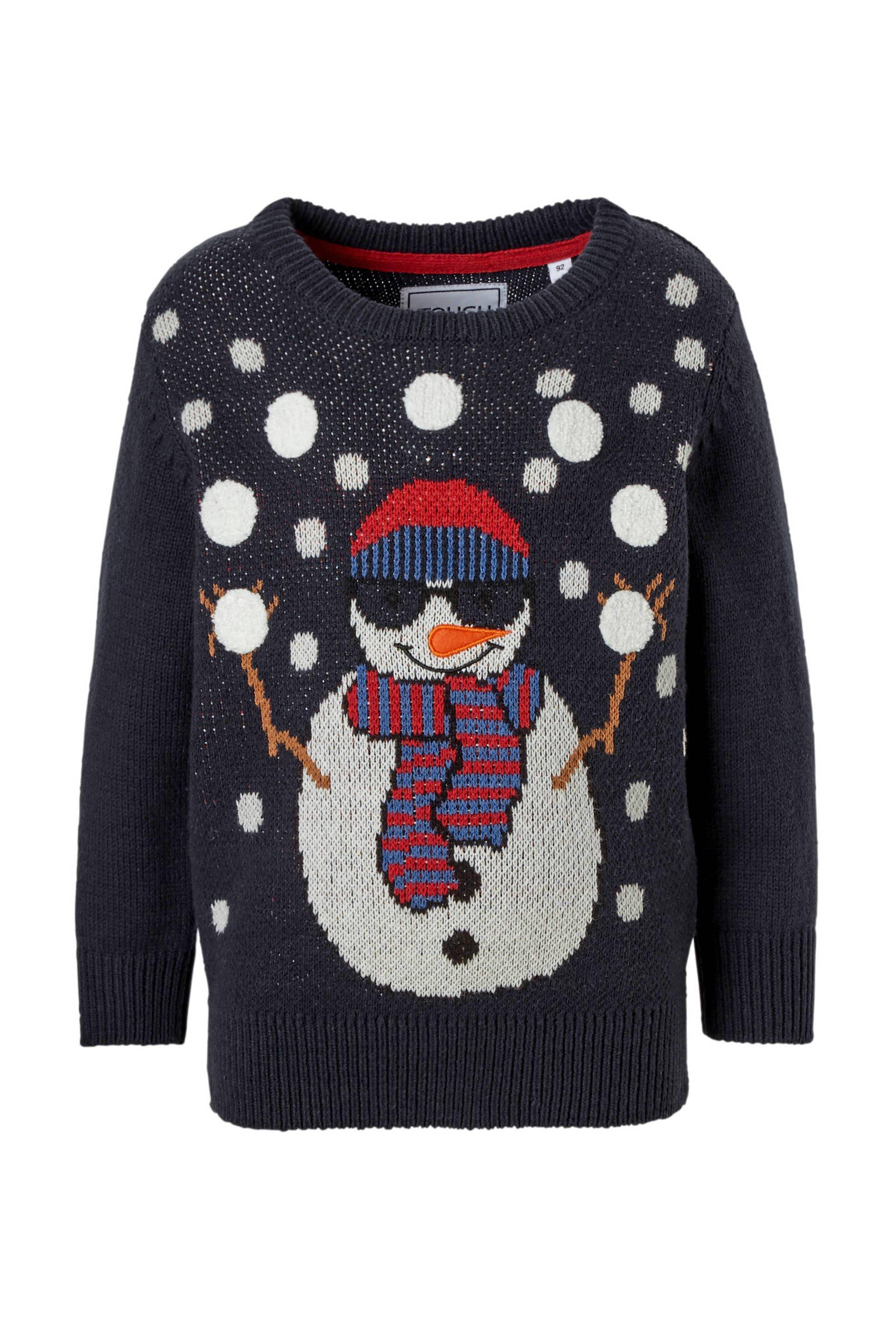 Kersttrui Dames Blauw.C A Palomino Kersttrui Met Sneeuwpop Blauw Wehkamp