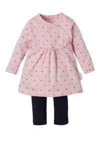 Noppies newborn baby jurk, Licht roze