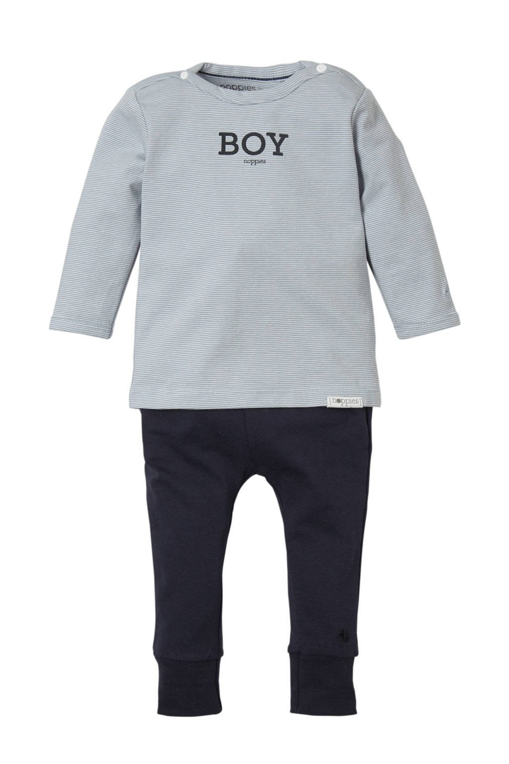 Noppies newborn baby giftset, Grijs/ blauw