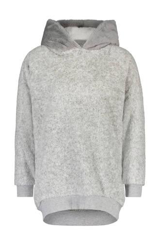 fleece sweater met capuchon grijs